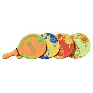 Best Sporting Neopren Beach-Ball-Set, 2 x Schläger 1 x Ball, Farbe:gelb/blau