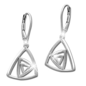 SilberDream Ohrringe Dreiecke Damen Schmuck 925 Silber Ohrhänger SDO4314J