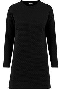 Urban Classics TB1322 Ladies Quilt Oversize Dress, Farbe:Black, Größen:L