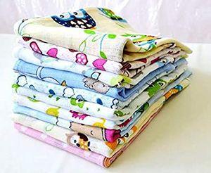 10 Stück - Stoffwindeln Stoffwindel Mullwindeln Spucktuch Spucktücher mit buntem Aufdruck für Mädchen 60x80 cm  aus 100% Baumwolle