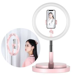 LED Ringlicht 360 Grad Ring Light Flash Selfie Dimmbar 52 - 170 cm Sativ Handyhalter Beleuchtungsmodus Halterung Weiß