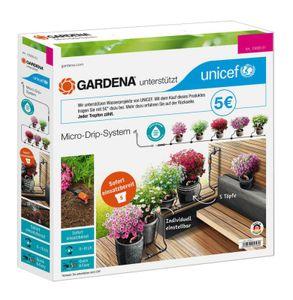GARDENA 13000-51 Micro-Drip-System Start Set Pflanztöpfe S zugunsten von UNICEF - Aktion