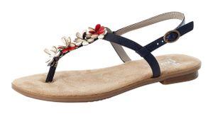 Rieker Damen Sandaletten Zehensteg Slingsandalen 64281-14, Größe:42 EU, Farbe:Blau