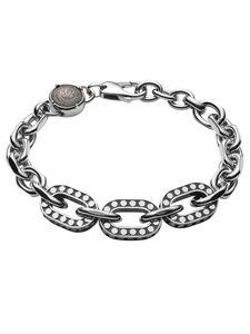 Diesel DX1166040 Herren Armband Edelstahl Silber Schwarz 10,5 cm