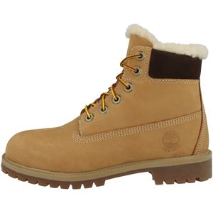 Timberland Kinderstiefel 6 In Premium WP Shearling Boot Wheat, Größe:38