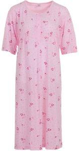 Lucky Damen Nachthemd kurzarm Große Größen 3XL-6XL, Größe:3XL, Farbe:Altrosa