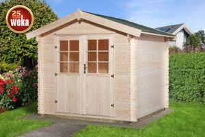Gerätehaus Holz 28 mm Weka Gartenhaus 209 Gr.1,5 natur 288x230cm