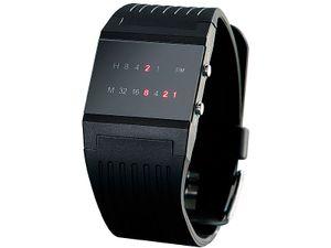 St. Leonhard LED Binär Herrenuhr Uhr Armbanduhr Binairy Code Uhr
