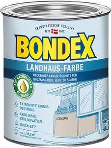 Bondex Landhaus-Farbe Steingrau 0,75l - 391303