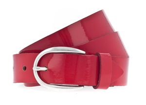 Vanzetti The Power of Patent Leather 30mm LackLeather Belt W95 Ruby Red
