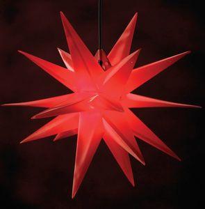 Deco-Plant Weihnachtsstern '18 Zacker' aus Kunststoff für Innen- & Außen-Dekoration, Ø 50 cm in rot; 7951