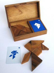 Tangram für 2 Spieler - Legespiel - Denkspiel - Knobelspiel - Geduldspiel - Logikspiel aus Holz