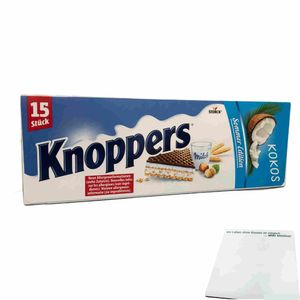 Knoppers Kokos Summer Edition Big Pack (15x25g Packung) + usy Block