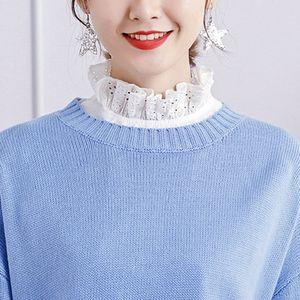 Blusen Einsatz Blusenkragen Krageneinsatz abnehmbare Kragen Deko für Kleider, Pullover, T-Shirt, Bluse
