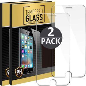 2x iPhone 7 / 8 Panzerglas Panzerfolie Schutzglasfolie Displayschutzglas Echt Glas Schutz Folie Display Glasfolie 9H