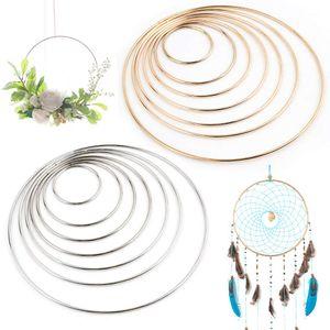 14 Stk. 7 Größen Metallringe Drahtring Metall Ringe Hoops für Traumfänger