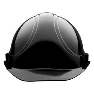 VOSS Schutzhelm INAP-Master schwarz - Bauhelm inklusive 4-Punkt Gurtband-Innenausstattung mit Kinnriemenhalterung, Norm EN 397