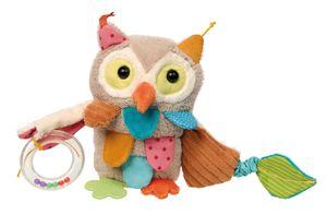 sigikid PlayQ Aktiv-Eule, Greifling, Vibrationsrassel, Rassel, Babyspielzeug, Baby Spielzeug, Polyester, H 20 cm, 42185