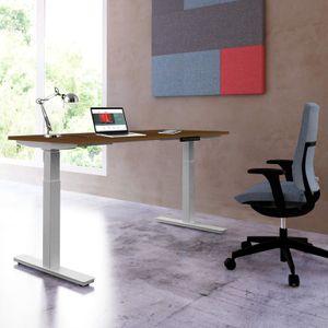 Florida Schreibtisch höhenverstellbar mit 2 Motoren, 160x80 cm / 180x80 cm Nussbaum, Größe Tischplatte:160 x 80 cm