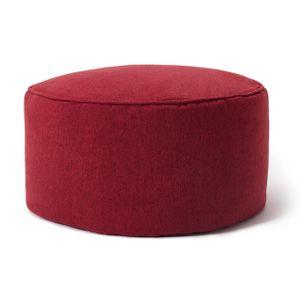 Lumaland Comfort Line Sitzsack-Hocker 25 x 45 cm - Indoor - mit extra starken Nähten, pflegeleicht - Runder Sitzpouf, Bodenkissen Bean Bag Pouf - Rot