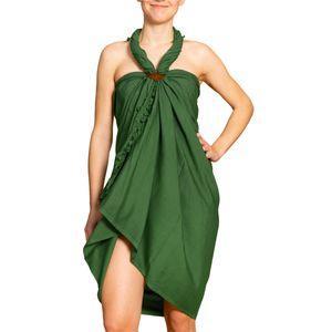 PANASIAM Sarong unicolor, Farbe/Design:Grün, Größe:190x116cm