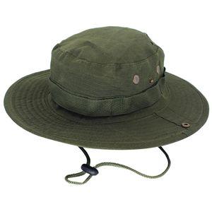 Neue Männer Jagd Hut Military Cap Boonie Outdoor Breiter Krempe Eimer Unisex Angeln
