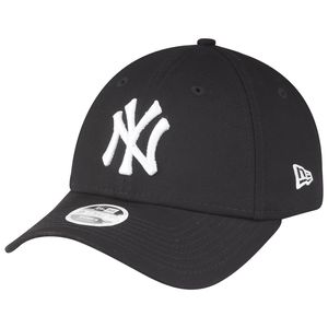 New Era Damen Essential 9Forty Adjustable Cap NY YANKEES Schwarz Weiß, Size:Onesize