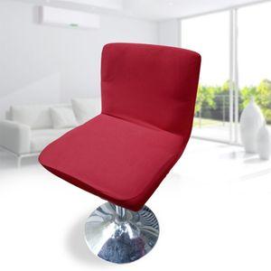 Elasthan Stretch Kurz Stuhlabdeckung Barhocker Cover Weinrot Modern Schonbezug Einfarbig 35-45 cm