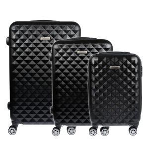 Koffer Hartschalenkoffer Trolley Reisekoffer Kofferset Handgepäck 3 teilig M L XL Schwarz