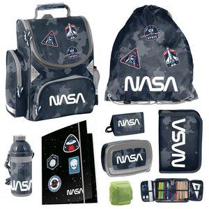 NASA Schulranzen Set 8tlg. mit Federmappe Dose Flasche Camouflage
