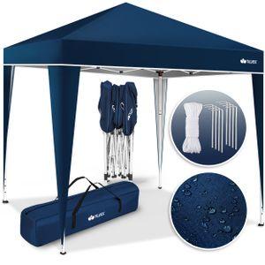 tillvex Pavillon 3x3m Blau wasserdicht | Pop-Up Faltpavillon höhenverstellbar | Gartenzelt UV Schutz 50+ | Partyzelt mit Tasche für Garten