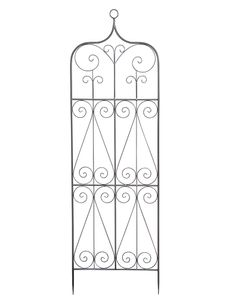 SIENA GARDEN Rankgitter Metall anthrazit unterverzinkt 51x164cm Toledo