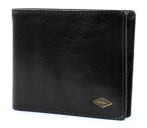FOSSIL Herren Geldbeutel Portemonnaie Geldbörse mit RFID-Chip Schutz Schwarz 5158
