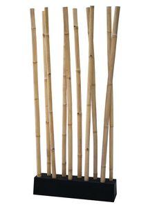 LioLiving® LIO Bambus Raumteiler natur/schwarz
