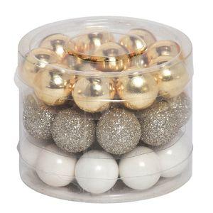 Weihnachtskugel GLAMOROUS gold weiß Kugeln aus Glas Weihnachten 30tlg.
