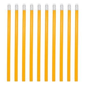 Bleistift 10 Stück Schreibstift Zeichenstift Holzstift Malstift Radiergummi mittlere Härte HB Set