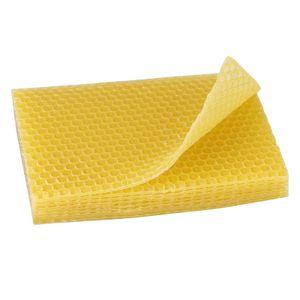 Somubi 10 Stück Bienenwachs Platten Bienenwachsplatten Wachsplatten Wabenblaetter 13 x 9cm
