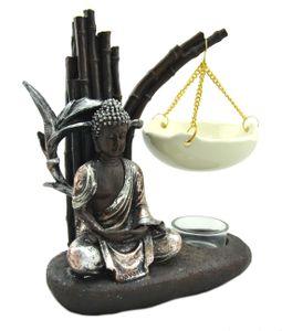 Davartis - Duftlampe Buddha Garden, braun-silber, Keramik Schale