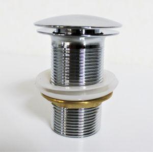 PROKIRA® Push POP Up Waschtisch Waschbecken Ablauf Ventil Siphon Massiv Messing Verchromt ohne Überlauf