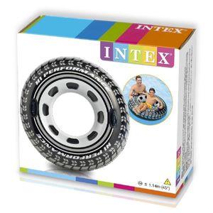 Intex schwimmreifenrad 114 cm PVC schwarz/grau