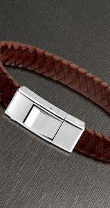 Lederarmband Herren Armband braun silber Lotus Style LS1122-2/3 21 cm