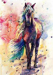 5D Diamond Painting - Pferd Aquarell - 30x40 cm - ohne Rahmen