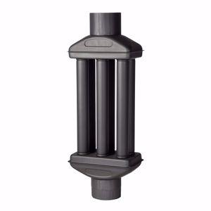 acerto® - Warmlufttauscher 150 mm/ 90 cm Rauchgaskühler Rauchrohr Abgaswärmetauscher