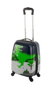 Travelhouse -Happy Children - Green Dino - 27 l - Kindergepaeck Kindertrolley Kinderkoffer Reisekoffer Jungen Handgepaeck Reisegepaeck