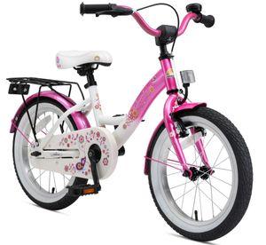 BIKESTAR Kinder Fahrrad ab 4 Jahre | 16 Zoll Classic Kinderrad | Pink & Weiß