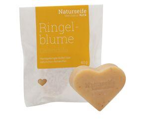 RUCK® Naturseife Herzform 40g - RINGELBLUME