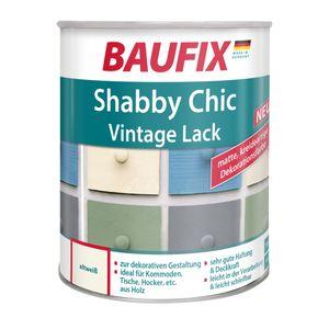 BAUFIX Shabby Chic Antik Lack Buntlack - Grün Blau Grau Weiß 750 ml  Altweiß