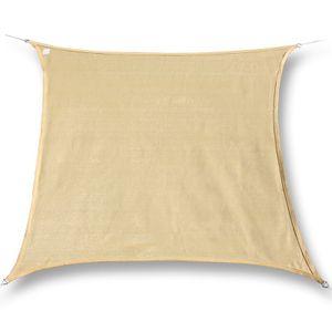 hanSe® Marken Sonnensegel 100% Polyester Quadrat 6x6 m Sand