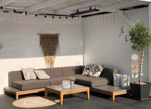 Loungegarnitur OSLO Beton und Teak