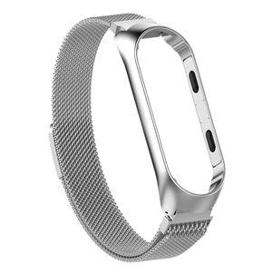 Für Xiaomi Mi Band 3 / 4 Smart Armband Uhrenarmband Armband Handgelenk Farbe Silber